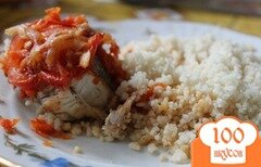 Фото рецепта: «Пикша запеченная под маринадом»