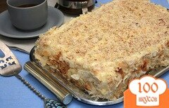 Фото рецепта: «Торт Наполеон из слоеного теста»