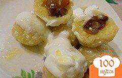 Фото рецепта: «Ленивые вареники фаршированные изюмом»