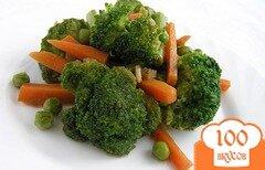 Фото рецепта: «Зеленое рагу с имбирем и морковью»
