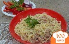 Фото рецепта: «Спагетти по-флотски на костре»