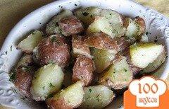 Фото рецепта: «Отварной картофель с зеленью»