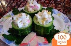 Фото рецепта: «Крабовый салат в стаканчиках»