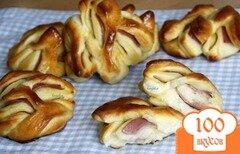 Фото рецепта: «Булочки с колбасой»