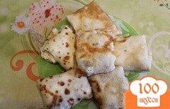 Фото рецепта: «Блины с семгой и сыром»