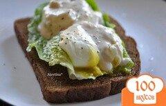 Фото рецепта: «Цезарь салат с яйцами пашот»