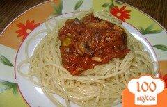 Фото рецепта: «Спагетти с соусом»