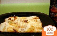 Фото рецепта: «Блинчики с яблочным припёком и кленовым сиропом»