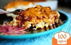 Фото рецепта: «Запеченная лапша со сметаной»
