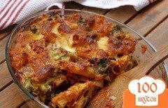 Фото рецепта: «Гратин из пасты, брокколи и сосисок»