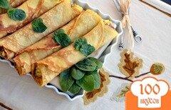 Фото рецепта: «Блины с яичной начинкой»