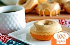 Фото рецепта: «Пончики с кофейной глазурью»