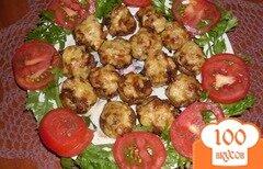 Фото рецепта: «Шампиньоны фаршированные овощами»