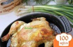 Фото рецепта: «Курица, фаршированная хлебом и сыром»