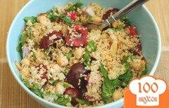 Фото рецепта: «Салат из кускуса с вишней»