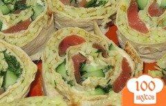 Фото рецепта: «Роллы из лаваша»