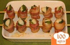 Фото рецепта: «Морские гребешки с шпинатом и беконом»