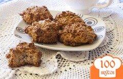 Фото рецепта: «Кокосовое печенье с цельнозерновой мукой»
