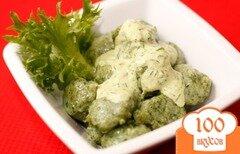 Фото рецепта: «Картофельные клецки со шпинатом»