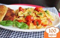 Фото рецепта: «Паста с помидорами и сыром»