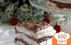Фото рецепта: «Торт-безе с шоколадным кремом»