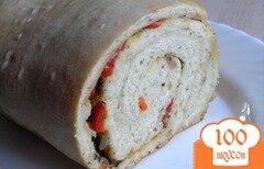 Фото рецепта: «Хлеб-рулет с овощами (на закваске)»