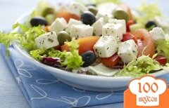 Фото рецепта: «Салат греческий с маслинами»