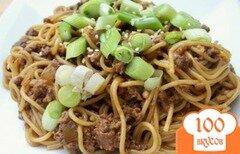 Фото рецепта: «Лапша по-сычуаньски с острым говяжьим соусом»