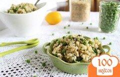Фото рецепта: «Коричневый рис с базиликом, бобами и лимоном»