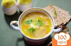 Фото рецепта: «Cытный фасолевый суп с копченой грудинкой»