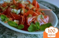 Фото рецепта: «Овощной салат с сыром и мятой»