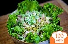 Фото рецепта: «Салат с горошком и ананасом»