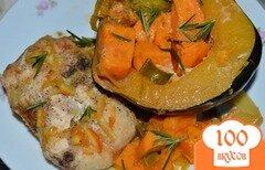 Фото рецепта: «Куриные грудки в апельсиново-кленовом сиропе с овощами»