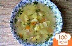 Фото рецепта: «Суп с тунцом и молодой кукурузой»
