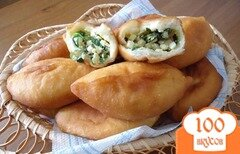 Фото рецепта: «Пирожки с луком и яйцом»