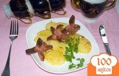Фото рецепта: «Запеченные сосиски с картофелем»