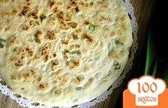 Фото рецепта: «Лепешка с зеленым луком»