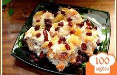 Фото рецепта: «Каша тыквенная с вялеными фруктами»