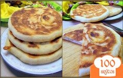 Фото рецепта: «Ароматные лепёшки из манки с сыром.»
