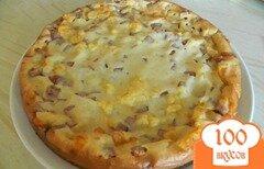 Фото рецепта: «Пирог с ветчиной и сыром»