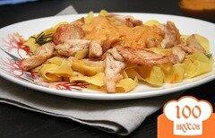 Фото рецепта: «Паста с курицей и сливочным соусом»