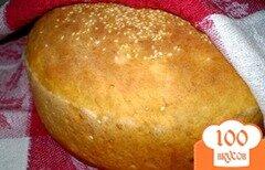 Фото рецепта: «Томатный хлеб с отрубями, семечками подсолнечника и кунжутом»