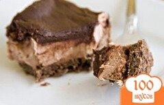 Фото рецепта: «Пирожные с шоколадным кремом и ганашем»