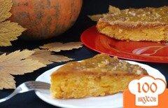 Фото рецепта: «Тыквенный пирог с ириской»