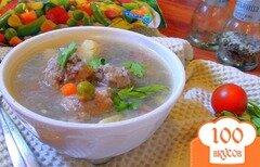 Фото рецепта: «Густой супчик для вечно занятых мамочек с мясными клёцками, гречкой и овощами.»