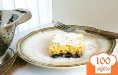 Фото рецепта: «Торт из рикотты с черникой и лимоном»