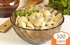 Фото рецепта: «Шампиньоны в горчичном соусе»