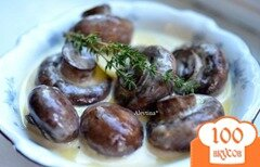 Фото рецепта: «Грибочки в чесночном соусе»