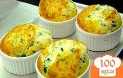 Фото рецепта: «Суфле из шпината и козьего сыра»