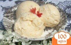 Фото рецепта: «Персиковое мороженое с миндалем»